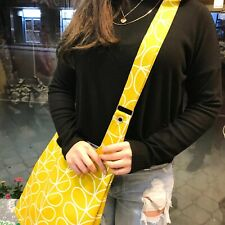 ORLA KIELY FABRİC- YELLOW STEM SHOULDER BAG-SHOPPING BAGHANDMADE