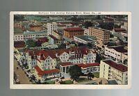 1923 Birds-Eye View Haleyon Hotel Miami Florida USA Real Picture Postcard Cover