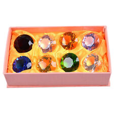 Set 8 40mm Crystal Diamond Shape Paperweight Glass Wedding Favor Gift Ornaments