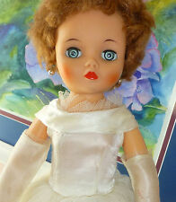 VTG Uneeda 2S Bride Bridal 19-Inch 50s 1958-1960 Red Hair Sleep Eye Fashion Doll