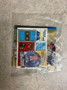 Vintage G1 Transformers Booklet Unused Decals SEALED 1989 AIRWAVE Micro Masters