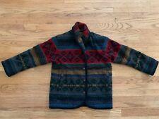 Vtg Woolrich Woman Sz. Small Blanket Jacket Coat Southwestern Wool Aztec