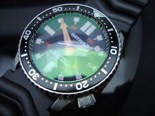 Vintage Seiko 7002 XX MEGA MOD HAMMER BB GREEN SAPPHIRE CRYSTAL 150m G94.