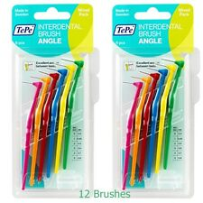 TePe Angle Interdental Brushes 12 Mixed Angled Brush Cleaning Oral Care Dental