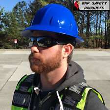 BLUE FULL BRIM HARD HAT WITH 4-POINT RATCHET SUSPENSION PYRAMEX HP24160 SAFETY