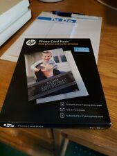 """5 × HP Photo Card Kit SF791A for Inkjet Printers 10 Sheets of 5x7"""" w / Envelopes"""