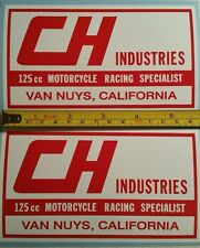 CH Industries sticker AHRMA Vintage Motocross Fox CR YZ RM KX 125 250 400 465