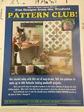 The Winfield Pattern Club Uncut Woodworking Patterns/Crafts Unused Set #101