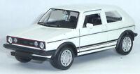 VW Golf I GTI Modellauto ca. 1:34 Metall Spritzguss 12cm weiß Neuware von WELLY