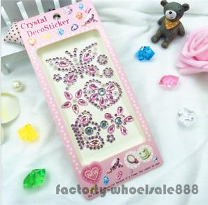 Pink Crystal Stickers Self Adhesive Glitter Rhinestone Diamond Gem Decal New Hot