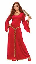 Ruby Sorceress Dress, Medieval, Womens Costumes, Game Of Thrones Fancy Dress #US