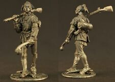 tin toy soldiers unpainted  54mm  Indian with a gun