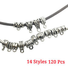Spacer beads Tibetan Silver Jewelry Making Connectors Tube Holder Clasp Pendant