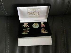 WDCC Disney Pin Set - Rare! tinkerbell, Bambi ,Woolf & Donald & Daisy Duck