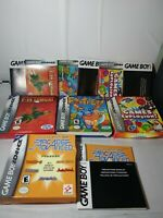Lot of 4 Nintendo Gameboy Advance Box and Manual Only