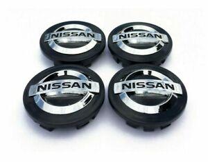 4x 54mm Nissan schwarze Felgen Radkappen Radkappe Juke Qashqai Micra NEU