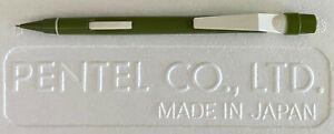 NOS Pentel Quicker Clicker PD335 0.5mm Mechanical Pencil   Green   Vintage 1979