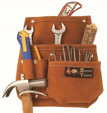 Extra Capacity Suede Leather Tool Pouch Bag