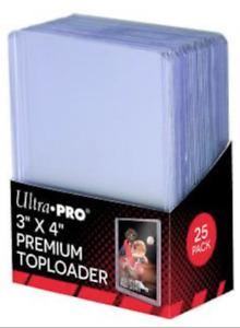 25 x Ultra Pro Top Loaders 3x4 Premium Clear 35pt NBA NFL AFL Pokémon Toploaders