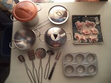 Childrens Cookware Set, metal, some vintage