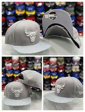 New Era 9Fifty Original fit NBA Chicago Bulls Gray Patent Leather snapback Hat