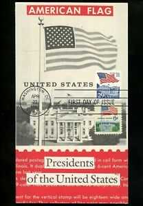 Ranto Cachet US FDC #2609 on 1338A combo w/1338 Flag White House Presidents 1992
