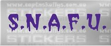 SNAFU DECAL situation Normal All F*!%ed Up 15 colours MPN 903 Captn Skullys