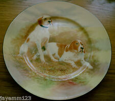 ROYAL DOULTON LARGE PLATE HUNTING DOGS c1938  SERIES WARE HANDPAINTED? VGC No1