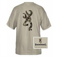 Safety orange browning camouflage buckmark t shirts logo for Safety logo t shirts