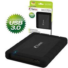 "FANTEC AluPro-6G U3 2,5"" SATA Festplatten Gehäuse USB 3.0 - Schutzhülle SCHWARZ"