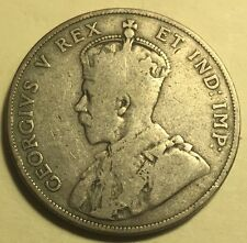 """Canada - George V - 50 Cents - 1911 - """"Godless"""" Issue - KM-19 - Fine"""