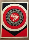 Shepard Fairey Obey PEACE DOVE Signed Numbered Screen Print 84/325 RARE