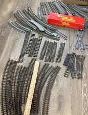 More details for tri-ang railways vintage train track grey x 45 & black x 20 job lot triang