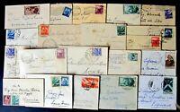 Repubblica -Storia Postale - Lotto da 21  Biglietti da visita