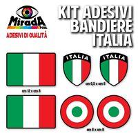 KIT Adesivi Stickers PAGATINA AUTOCOLLANT BANDIERA ITALIA TRICOLORE bordo NERO