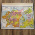 VTG 1964 Denoyer Geppert Social Sciences Classroom Map H10 Germany Reformation