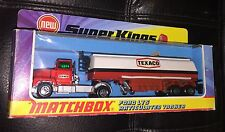 MATCHBOX SUPERKINGS K-16 FORD LTS TEXACO TANKER UNPUNCHED NIB 1973 RARE!