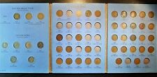 Flying Eagle & Indian Head Cent partial set from 1857 to 1909 in Whitman folder.