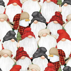 Shelly Komiskey Timber Multi Stacked Gnomies 9271-89 Cotton Fabric BTY