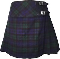 Ladies Black Watch  Billie Kilt Women's Tartan Girl's Mini Kilt