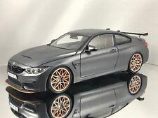 Minichamps BMW M4 (F82) GTS 2016 Matt Gray / Orange Diecast Model Car 1:18