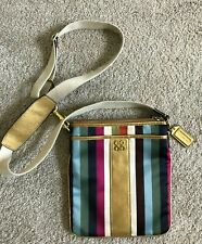 COACH Legacy Multicolor Stripe Crossbody Purse Swing Bag Swingpack 46801 RV$138
