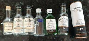 Miniature Spirit Bottles Hennessy Cognac Gordons Gin Bowmore Islay Whisky Vodka