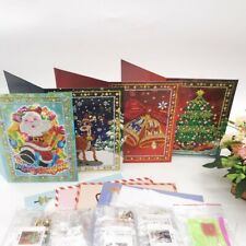 5D DIY Partial Drill Diamond Painting Greeting Christmas Party Wedding Card Gift
