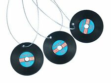 3 Piece Christmas Tree Pendant Ornament Decoration Gramophone Record LP