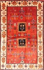 Top Deal Geometric Tribal 4x6 Shiraz Gabbeh Persian Oriental Area Rug 5' 9 x 3'7