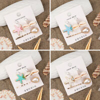 Wedding Party Pearl Hairpins Girl Hairgrip Shell Barrettes Starfish Hair Clips