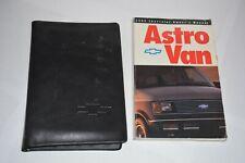 1992 CHEVROLET ASTRO VAN OWNERS MANUAL GUIDE BOOK SET OEM