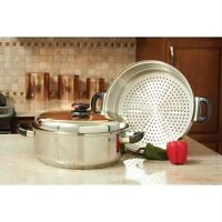 Precise Heat™ T304 Stainless Steel Oversized Skillet, Steamer and Cover