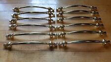New Old Stock 12 Door Handles or Cabinet Pulls, Gold Never Used, Good Cond.